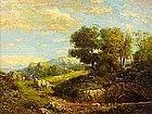 Julian Rix Early California Mt. Tamalpias landscape oil