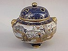 Japanese Satsuma pottery censer incense burner