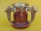 Shreve Silver Copper stag handle trophy loving cup