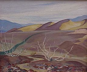 Jessie Arms Botke Death Valley  California plein air