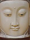 Guanyin  Large carved ivory Buddha China circa 1920