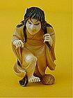 Japanese Ivory Netsuke Female Witch Noh figure signed