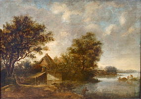 Salomon Van Ruysdael 17th century Dutch landscape