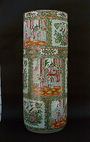 Chinese famille rose porcelain umbrella holder vase