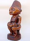 African art Carved Ivory coast Statue female and child
