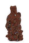 Late 19C Chinese Medicine Inlay Immortal God Figurine