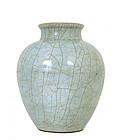 19C Chinese Ge Style Porcelain Crackle Vase