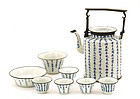 Late 19C Chinese Export Thai Blue & White Tea Set