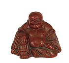 Early 20C Chinese Cinnabar Lacquer Happy Buddha
