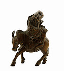 19C Chinese Wood Carving 8 Immortal Zhang Guo Lao