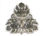 Old Persian Islamic Silver Leaf Shape Dish Tray