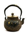 Meiji Japanese Cast Iron Teapot Tetsubin RYUBUNDOU Sg