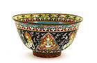Late 19C Chinese Thai Famille Rose Benjarong Bowl