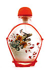 Chinese Hand Painted Glass Snuff Bottle Egret Bird