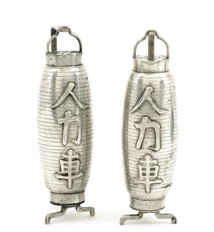 Japanese Sterling Silver Salt & Pepper Lantern