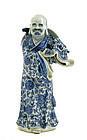 Chinese Blue & White Daruma Damo Figurine WeiHungTai Mk
