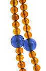 Early 20C Chinese Peking Glass Bead Court Necklace