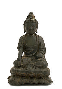 16/17C Chinese Bronze Seated Buddha