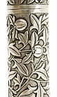 Early 20C Chinese Silver Cylinder Pomegranate Box Mk