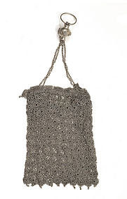Chinese Silver Mesh Lady´s Hand Purse Bag Mk