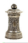 Early 20C Chinese Silver Salt or Pepper Grinder Mk