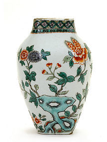 Chinese Famille Verte Porcelain Kangxi Flower Vase