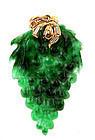 19K Gold Diamond Chinese Jadeite Grape Shaped Pendant