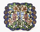 19C Russian Enamel Cloisonne Silver Faberge Belt Buckle