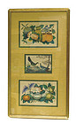 3 Early 20C Chinese Rice Paper Painting Bird & Fruit