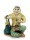 Late 19C Chinese Sancai Dragon Luohan Figurine Figure