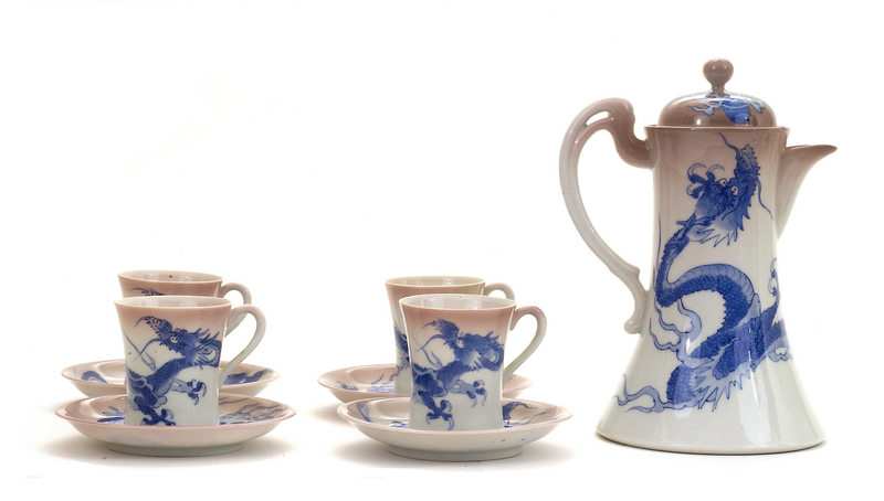 Japanese Studio Nishiura Dragon Tea Teapot Set Sg