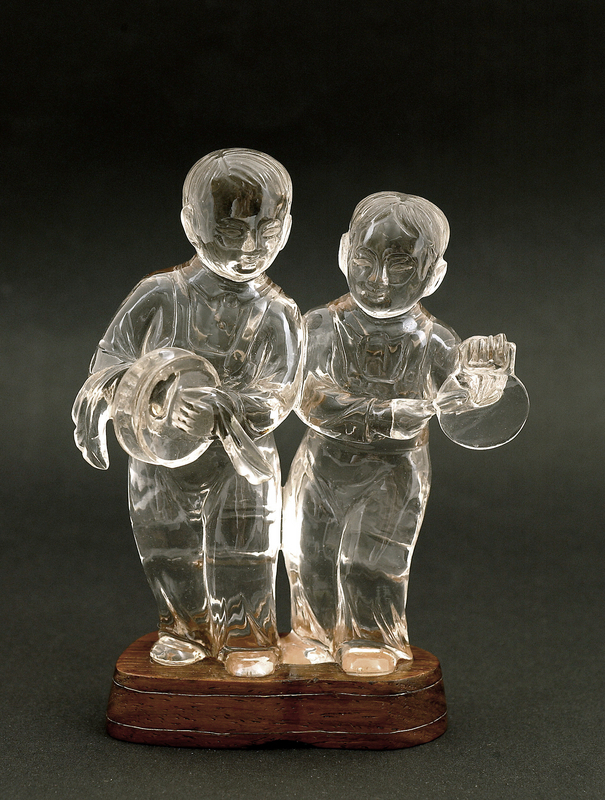 Chinese Culture Revolution Rock Crystal Kid Figure