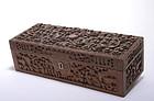 Early 20C Chinese Export Sandalwood Dragon Box