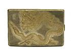Chinese Silver Gold Wash Dragon Cigarette Case Mk