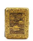 Japanese Komai Style Mixed Metal Cigarette Case