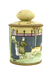 Japanese Nippon Dutch Dog Walk Humidor Cookie Jar Mk