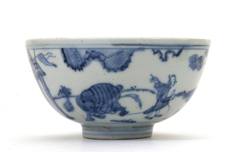 16C Chinese Ming Blue & White Porcelain Bowl Mk