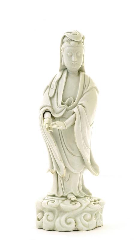 18C Chinese Blanc De Chine Dehua Guanyin Buddha