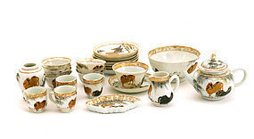 25 Chinese Famille Rose Porcelain Miniature Tea Set