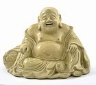 17/18C Chinese Pottery Happy Buddha Figurine