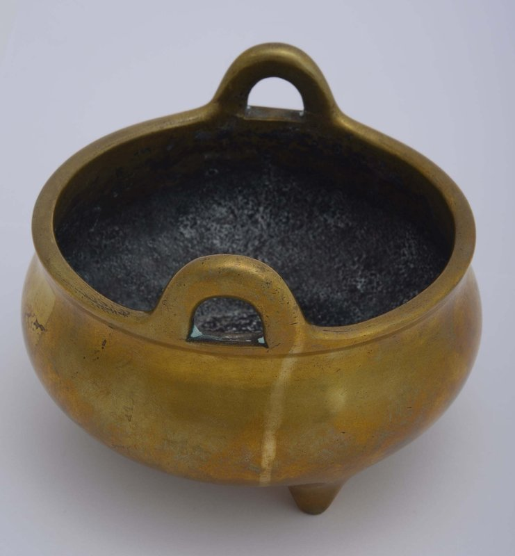 18/19C Chinese Bronze Censer Xuande Mk