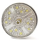 Early 20C Chinese Gilt Silver Sterling Box Flower