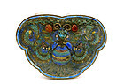 Chinese Silver Enamel Butterfly Moth Box Marked