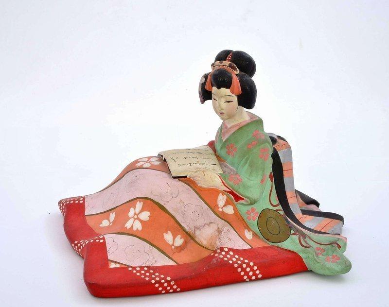 Japanese Hakata Urasaki Doll Geisha Erotic Shunga