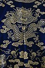 19C Chinese Silk Embroidery Brocade Dragon Robe