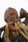 Old Chinese Fuzhou Fujian Lacquer Immortal Figure