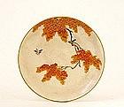 Old Japanese Satsuma Plate Yabu Mezien Style