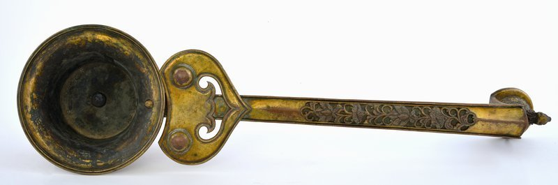 18C Chinese Gilt Bronze Incense Burner Holder