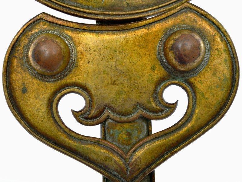 18C Chinese Gilt Bronze Incense Burner Holder