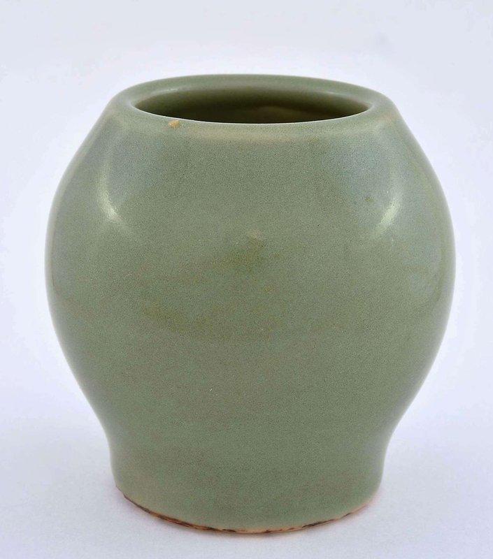 Japanese Studio Seifu Celadon  Porcelain Vase